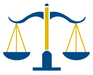 CJB logo:  scales of justice