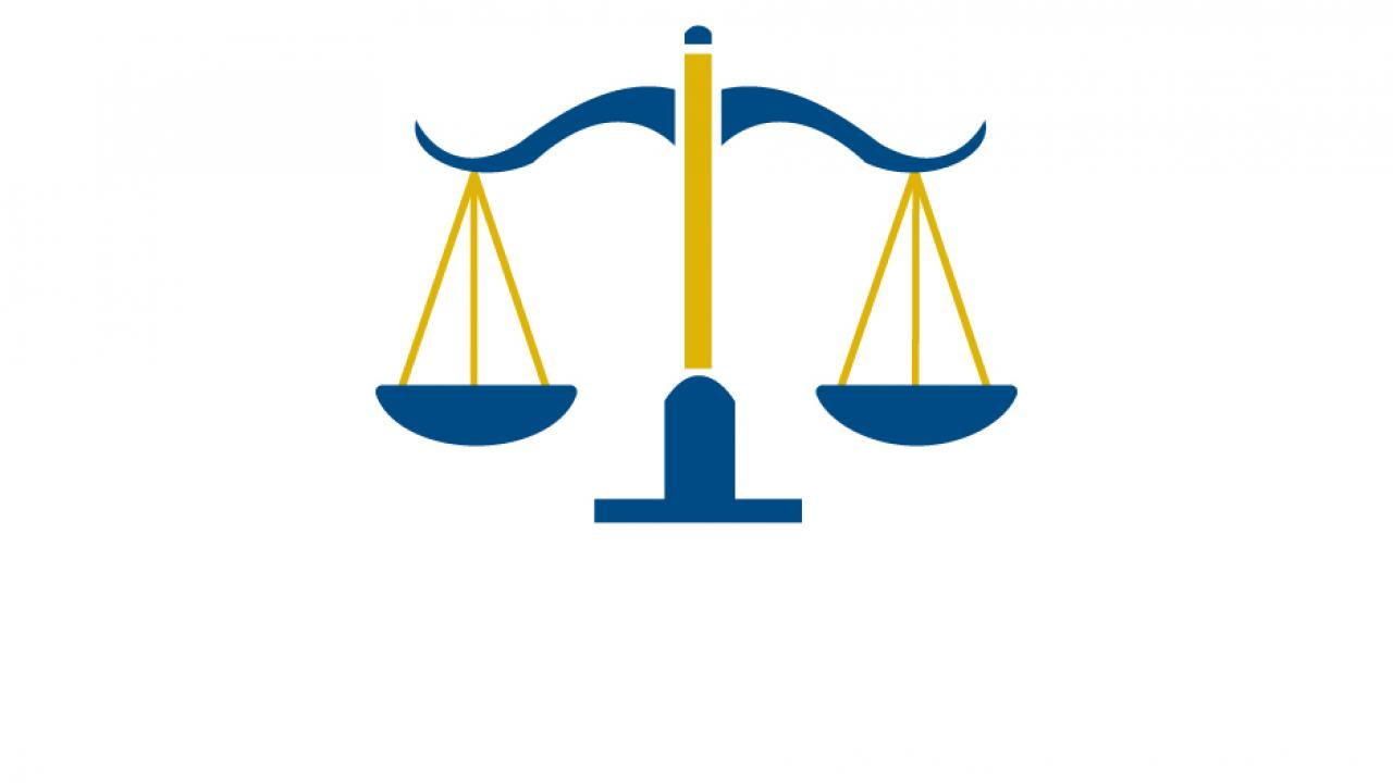 CJB logo: the scales of justice